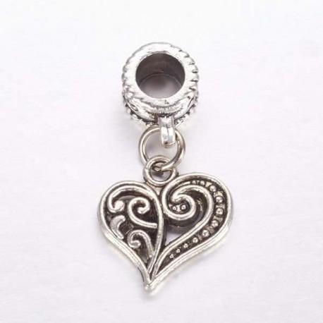 Charm Pendentif Coeur ajouré style Pandora - à l'unité