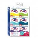 Kit 6 pains Fimo Soft 57 gr  - Couleurs Cool