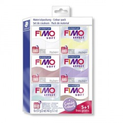 Kit 6 pains Fimo Soft et Effect 57 gr  - Couleurs bonbons