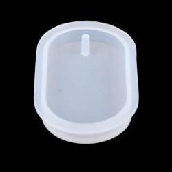 Moule silicone pour résine Gros Pendentif ovale avec trou