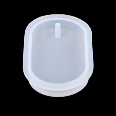 Moule silicone pour résine Gros Pendentif rectangle avec trou