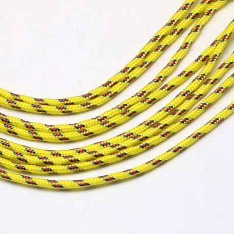 Fil Paracord Moutarde 2 mm ø - Au mètre