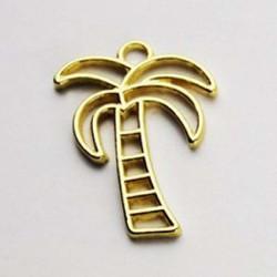 Pendentif contour Palmier 25 x 35 mm, doré