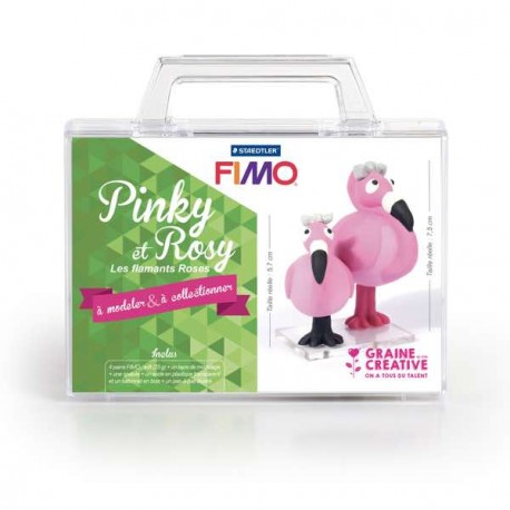 Mallette Kit modelage - Pinky et Rosy les Flamants Roses
