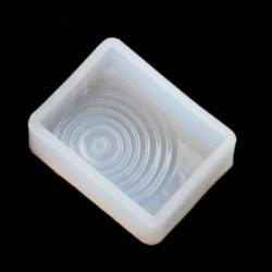 Moule silicone gros Rectangle à spirales pour résine