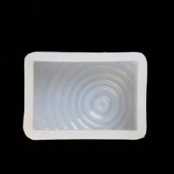 Moule silicone petit Rectangle à spirales pour résine
