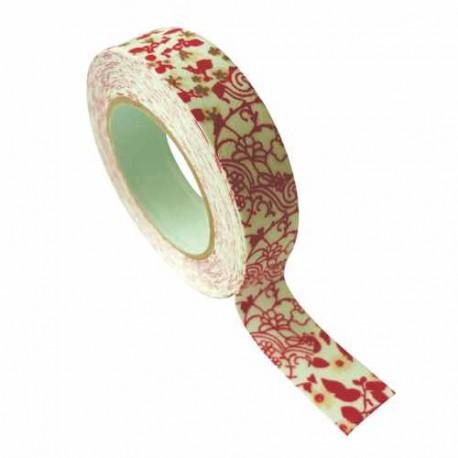 Masking Tape Tissu Saule rouge - 15 mm x 5 m