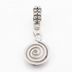 Charm Pendentif Spirale style Pandora - à l'unité