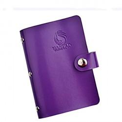 Carnet de rangement Violet Plaques de Texture 7 x 13 cm