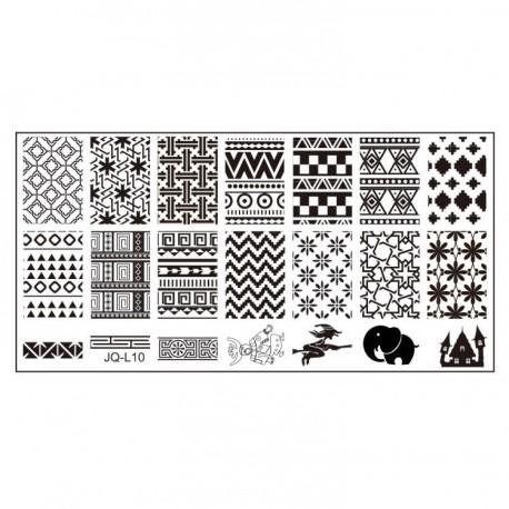 Plaque Stamping Texture 6 x 12 cm numéro 1