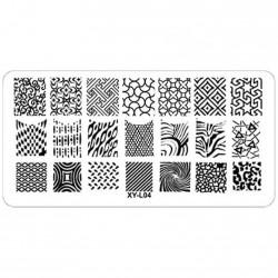 Plaque plastique Stamping Texture 6 x 12 cm N° 4