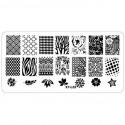Plaque plastique Stamping Texture 6 x 12 cm N° 5