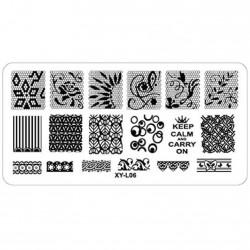 Plaque plastique Stamping Texture 6 x 12 cm N° 6