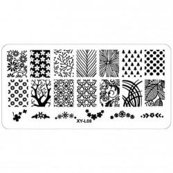 Plaque plastique Stamping Texture 6 x 12 cm N° 8