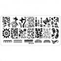 Plaque plastique Stamping Texture 6 x 12 cm N° 11