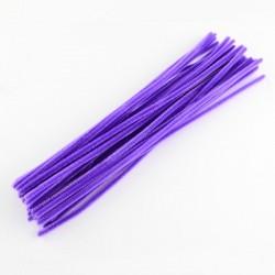 Fil chenille 30 cm Violet x 10