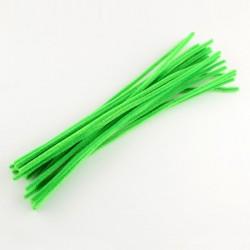 Fil chenille 30 cm Vert clair x 10