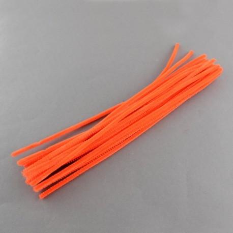 Fil chenille 30 cm Orange x 10