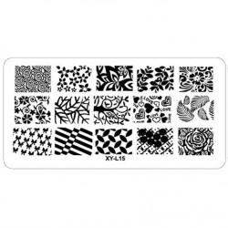 Plaque plastique Stamping Texture 6 x 12 cm N° 15
