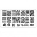 Plaque plastique Stamping Texture 6 x 12 cm N° 16