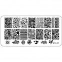 Plaque plastique Stamping Texture 6 x 12 cm N° 17