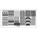 Plaque plastique Stamping Texture 6 x 12 cm N° 20