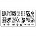 Plaque plastique Stamping Texture 6 x 12 cm N° 22
