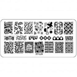 Plaque plastique Stamping Texture 6 x 12 cm N° 24