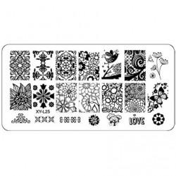 Plaque plastique Stamping Texture 6 x 12 cm N° 25