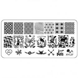 Plaque plastique Stamping Texture 6 x 12 cm N° 27