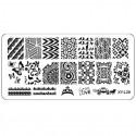 Plaque plastique Stamping Texture 6 x 12 cm N° 28