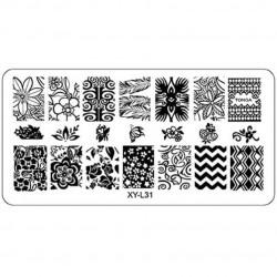 Plaque plastique Stamping Texture 6 x 12 cm N° 31