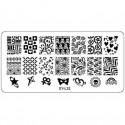 Plaque plastique Stamping Texture 6 x 12 cm N° 32