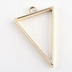 Pendentif contour Triangle 25 x 39 mm, doré