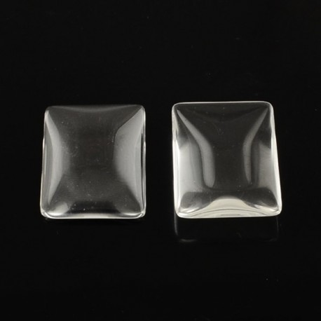 Cabochon rectangle 25 x 18 mm en verre