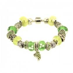 Bracelet style pandora  Vert tendre