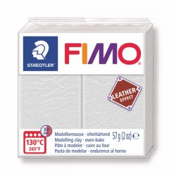 Fimo Effet cuir (Effect Leather) Ivoire 29 - 57 gr