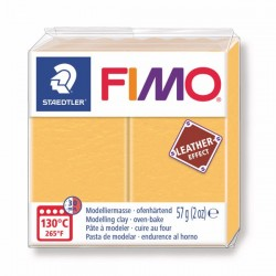Fimo Effet cuir (Effect Leather) Jaune safran 109 - 57 gr