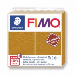 Fimo Effet cuir Jaune Ocre 179 - 57 gr