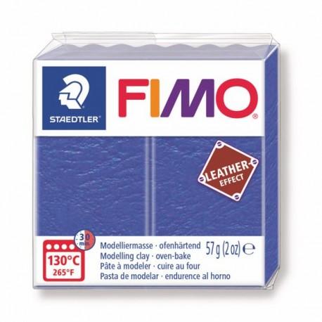 Fimo Effet cuir Bleu Indigo 309 - 57 gr