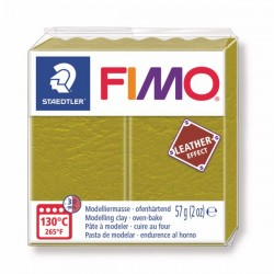 Fimo Effet cuir (Effect Leather) Vert Olive 519 - 57 gr