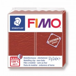 Fimo Effet cuir (Effect Leather) Rouille 749 - 57 gr