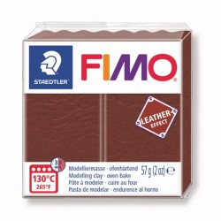 Fimo Effet cuir (Effect Leather) Marron 779 - 57 gr