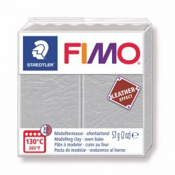Fimo Effet cuir (Effect Leather) Gris pale 809 - 57 gr