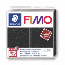 Fimo Effet cuir (Effect Leather) Noir 909 - 57 gr