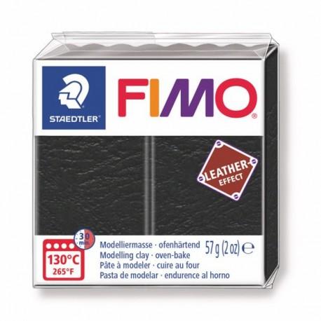 Fimo Effet cuir Noir 909 - 57 gr