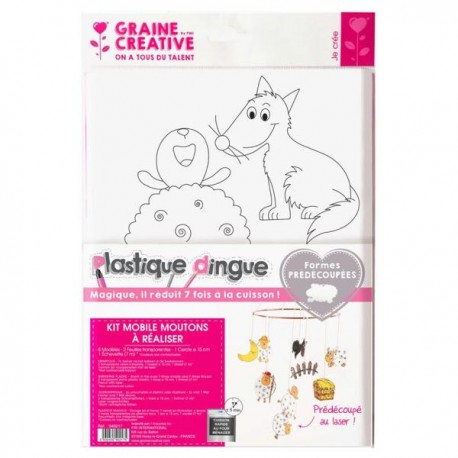 Plastique dingue Kit Mobile Moutons