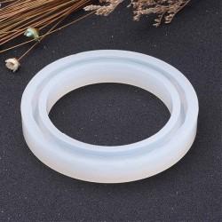 Moule silicone pour résine Bracelet à facettes 7,9 cm
