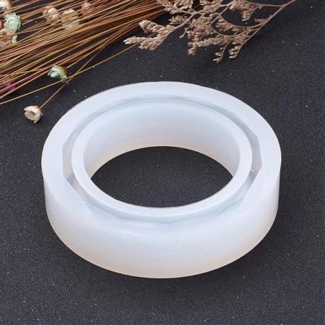 Moule silicone pour résine Bracelet à facettes 8,2 cm