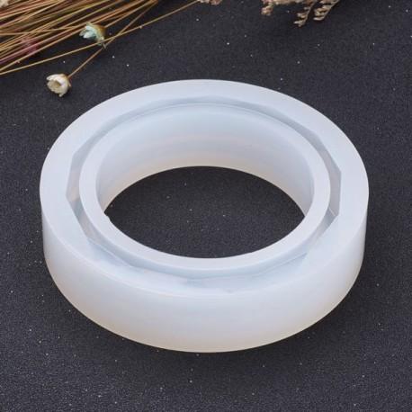 Moule silicone pour résine Bracelet à facettes 8,55 cm